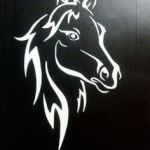 Horse Head Stencil Inspiration 74 Best Horse Stencil Images In 2019
