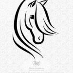 Horse Head Stencil Inspirational 74 Best Horse Stencil Images In 2019
