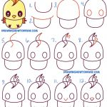 How to Draw Emojis Step by Step Beautiful How to Draw Cute Kawaii Chibi Moltres From Pokemon In Easy Step