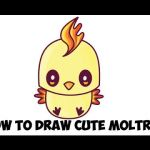 How to Draw Emojis Step by Step Brilliant How to Draw Cute Kawaii Chibi Moltres From Pokemon In Easy Step