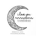 I Love You Coloring Book Exclusive I Love You to the Moon and Back Hand Drawn Colouring Page