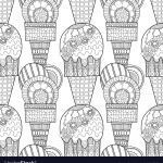 Ice Cream Coloring Book Best Ice Cream Dessert Black and White Royalty Free Vector Image