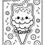 Ice Cream Coloring Book Inspiration Awesome High Resolution Coloring Book Image