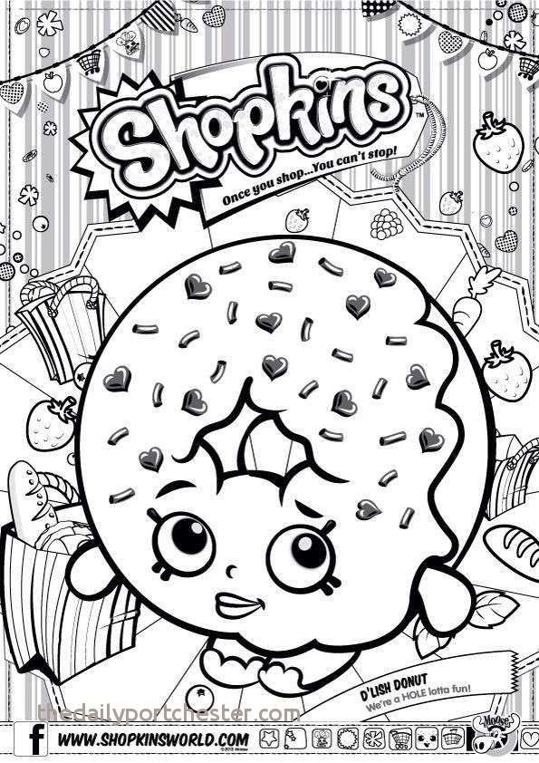 Images Of Shopkins Exclusive Donut Coloring Page Unique Shopkin Coloring Pages Fresh Printable