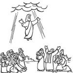 Jesus and Children Colouring Pages Amazing Jesus ascension Coloring Page Beautiful Cool Coloring Page Unique