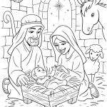 Jesus Birth Coloring Pages Best Coloring Coloring Excelent Jesus Sheets Children Bible
