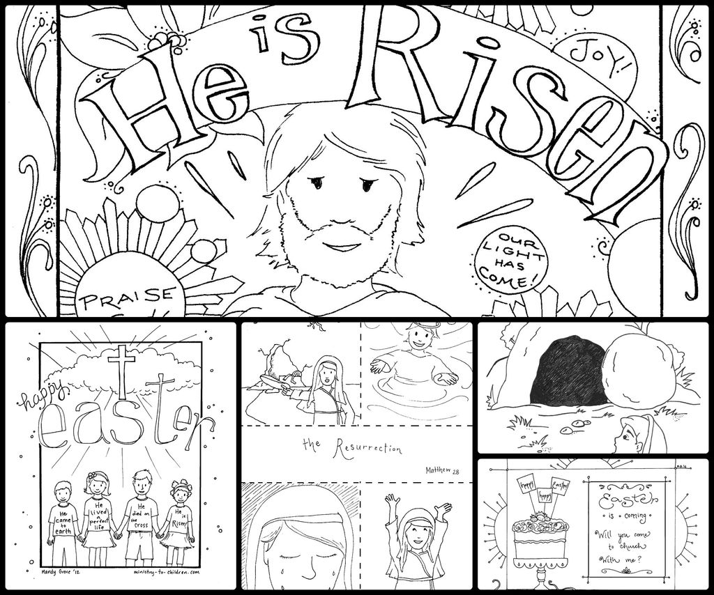 Jesus Coloring Pages for Kids Printable Beautiful Coloring Jesus Empty tomb Coloring Page for Kids Resurrection Free
