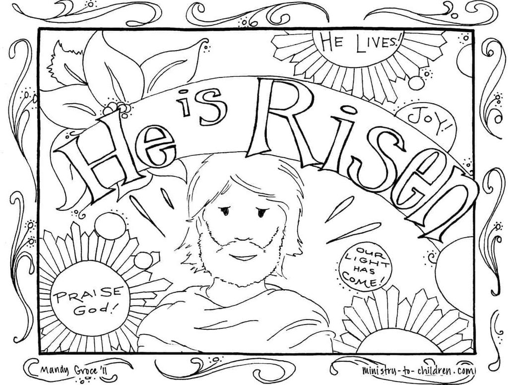 Jesus Coloring Pages for Kids Printable Elegant Coloring Coloring Amazing Christian Easter Pages Amazing