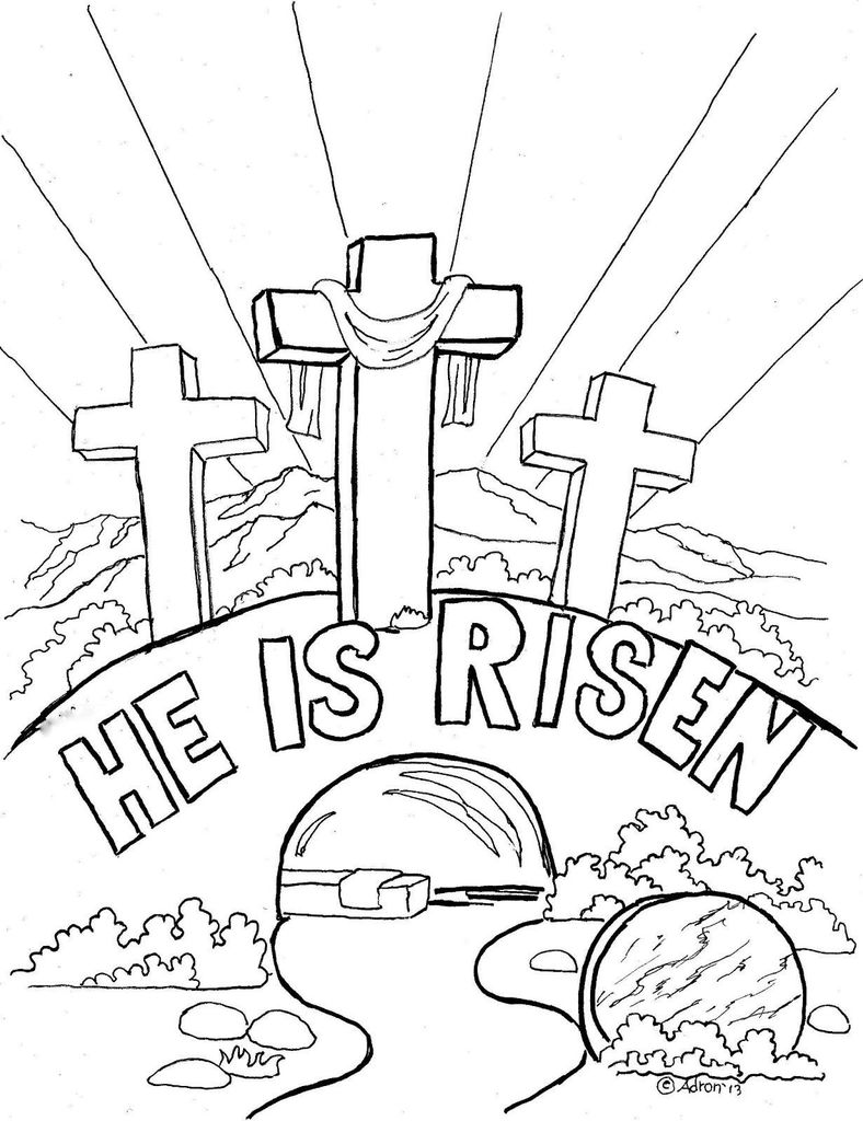 Jesus Coloring Pages for Kids Printable Excellent Resurrection Coloring Pages Wish Easter He Has Risen Fun Time