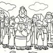 Jesus Coloring Pages for Preschoolers Brilliant Children Colouring Sheet Cartoon Od Jesus Disciples Coloring Page