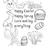 Jesus Love Coloring Pages Fresh Coloring Spring Religious Coloring Pages with Saying Happy Easter