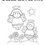 Jesus Loves Me Colouring Page Inspiration God Loves Me Coloring Pages – Chromadolls
