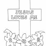 Jesus Loves Me Colouring Page Inspiration Jesus Cross Drawing at Getdrawings