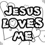 Jesus Loves Me Colouring Page Inspirational Luxurius Jesus Loves Me Coloring Pages Printables 64 for Your with