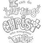 Jesus Loves Me Colouring Page Marvelous I Can Do All Things Through Christ Coloring Page 8 5x11 Bible