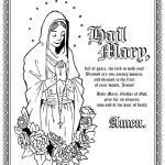 Jesus Loves the Little Children Coloring Sheet Inspired Mary Coloring Page Hail Coloring Page Hail Coloring Sheet Blessed
