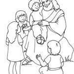 Jesus Loves the Little Children Coloring Sheet Wonderful 305 Best Bible Jesus and His Life Images In 2019