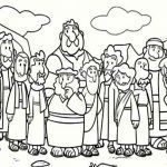 Jesus with Children Coloring Page Awesome Children Colouring Sheet Cartoon Od Jesus Disciples Coloring Page