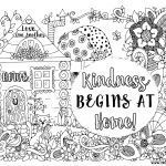 Kindness Coloring Sheet Pretty Kindness Coloring Pages