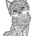 Kitten Coloring Pages Pretty Beautiful Kitten Coloring Page 2019
