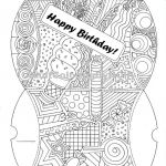 Large Coloring Pages for Adults Best Coloring Page Printable Digital Download Birthday Pillow Box