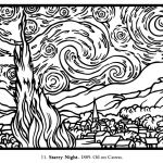 Large Coloring Pages for Adults Creative Free Coloring Page Coloring Adult Van Gogh Starry Night Large