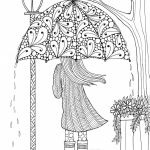 Large Print Coloring Pages for Adults Excellent Coloring Page Umbrellagirl Fabulous Simple Adult Coloring Pages