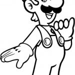 Large Print Coloring Pages for Adults Inspired Printable Luigi Coloring Pages Free