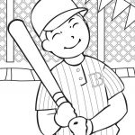 Large Print Coloring Pages for Adults Pretty Baseball Pages Pdf Red sox Cap Color Free Printable for Adults Bat