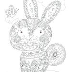 Large Print Coloring Pages for Adults Wonderful Bunny Cutouts to Print Free A R Image Here Download