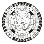 Large Print Coloring Pages for Adults Wonderful Coloring Books astonishing Mandala Coloringheets Page Adult Cat by