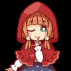 Legacy Day Cerise Hood Inspirational Little Red Riding Hood Of the Day – Line Stickers