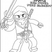 Lego Ninjago Coloring Book Awesome Lego Ninjago Kai with Sword Coloring Page Crafty Kids