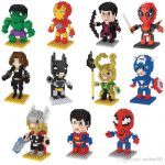 Lego Spiderman Cartoons Inspired 2019 Lno Building Block Puzzle toy Mini Super Heroes Marvel toys Dyi