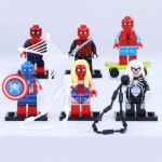 Lego Spiderman Cartoons Pretty Spider Woman Spider Man Minifigures Lego Patible Avengers toy