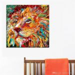 Lion King Pictures to Print Marvelous the Colorful Lion King Painting Wall Art Home Decor Modern Canvas