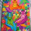 Lisa Frank Stencils Awesome Vintage Aloha Lisa Frank 3 Tigers Pocket Folder for Trapper Keeper