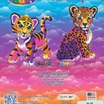 Lisa Frank Tiger Awesome Lisa Frank Color and Trace Book with Stand Up Characters Buy Lisa