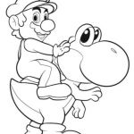 Mairo Coloring Pages Pretty Mario Riding Yoshi Coloring Page From Yoshi Category Select From