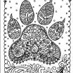 Mandala Adult Coloring Brilliant Instant Download Dog Paw Print You Be the Artist Dog Lover Animal