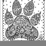 Mandala Coloring Pages Printable Free Inspirational Instant Download Dog Paw Print You Be the Artist Dog Lover Animal