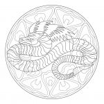 Mandalas to Color Free Best Awesome Dragon Mandala Coloring Pages – Tintuc247