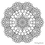Mandalas to Color Pdf Exclusive Easy Mandala Coloring Pages Beautiful Free Mandala Coloring Pages