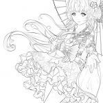 Manga Coloring Books Exclusive Animation Coloring Pages