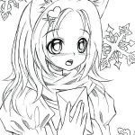 Manga Coloring Books Inspired Anime Coloring Pages Line
