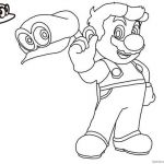 Mario Coloring Pages to Print Awesome Mario Odyssey Coloring Pages at Getcolorings