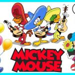 Mickey Mouse Coloring Book Beautiful Mickey Mouse Coloring Pages Abc Alphabet song Ep 04 Mickey Mouse