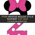 Mickey Mouse Print Out Fresh Free Minnie Mouse Style Number 2 Cut Out Size Printable