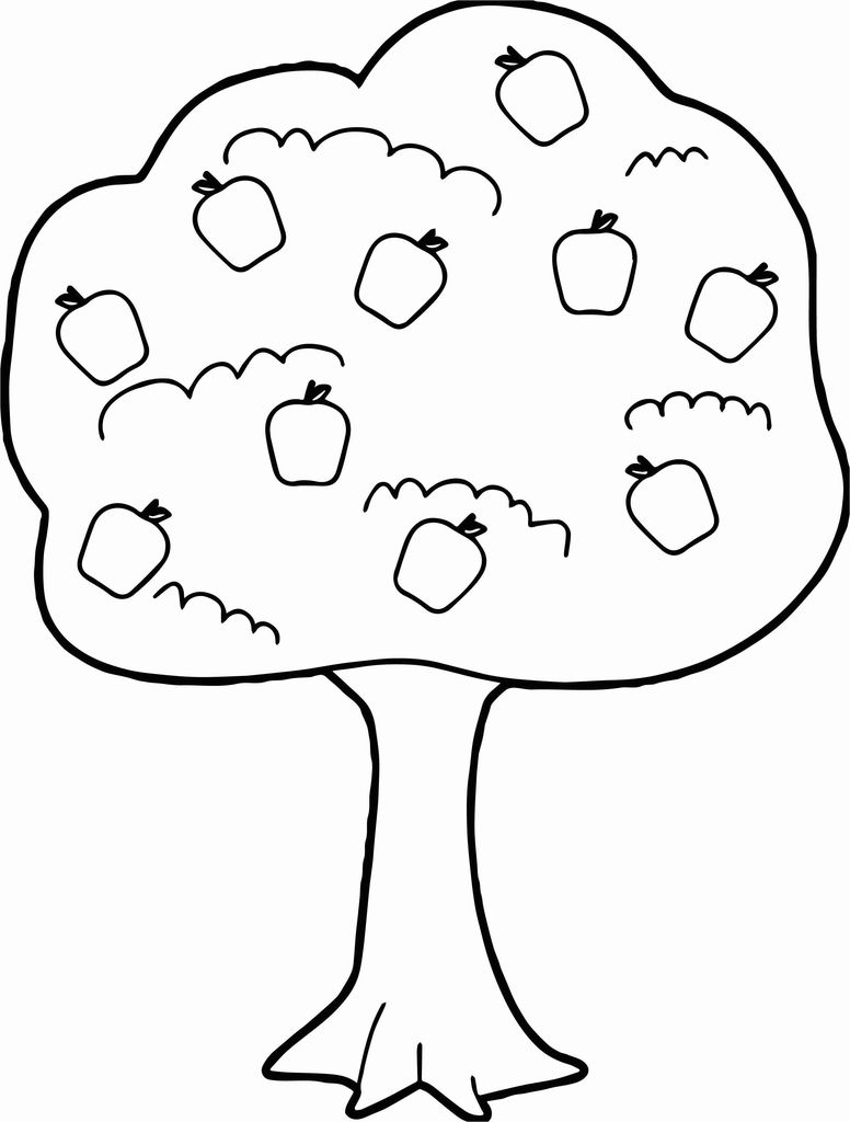 Apple Tree Coloring Page – Mrsztuczkens