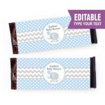 Minecraft Wrapping Paper Printable Beautiful Editable Elephant Chocolate Label